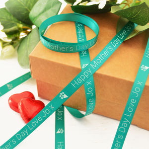 Mother's Day 10mm Personalised Printed Ribbon - finishing touches