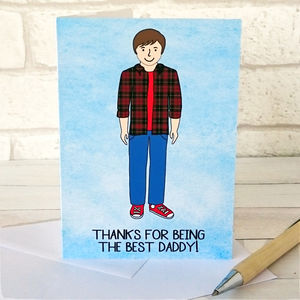 Best Daddy Portrait Card - personalised cards