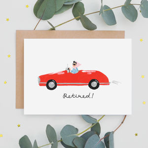 'Retired!' Greeting Card