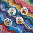 Set Of Four Knitting Badges