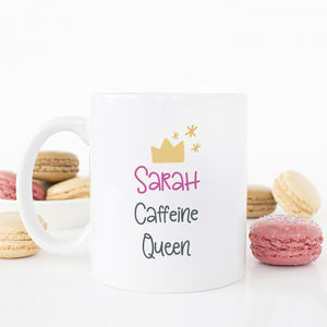 Personalised Caffeine Queen Mug - mugs