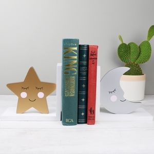 Sweet Dreams Star And Moon Bookends - bookends
