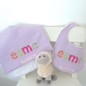 Personalised Bib And Burpcloth Set - gift sets