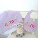 Personalised Bib And Burpcloth Set