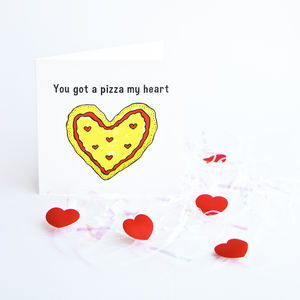 Pizza Your Heart Greetings Card
