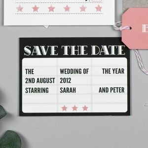 Hollywood Glamour Save The Date