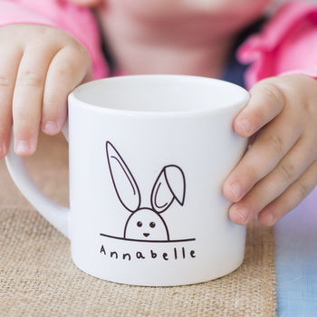 Children's Personalised Rabbit Mini Mug