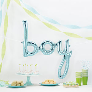 Baby Shower Blue Boy Balloon
