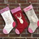 Personalised Reindeer Christmas Stockings