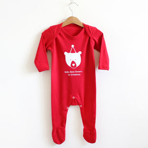 Baby Bears First Christmas Romper