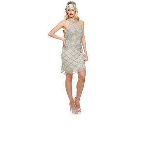 Flapper Art Deco Embellished Dress - flapper dresses