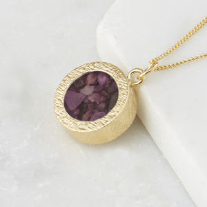 Birthstone Locket Necklace - june birthstone