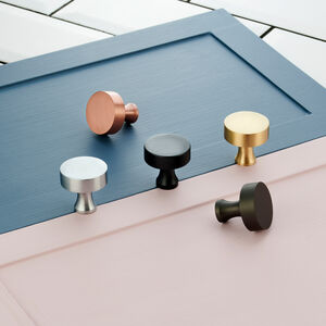 Contemporary Round Brass Cupboard Door Knobs