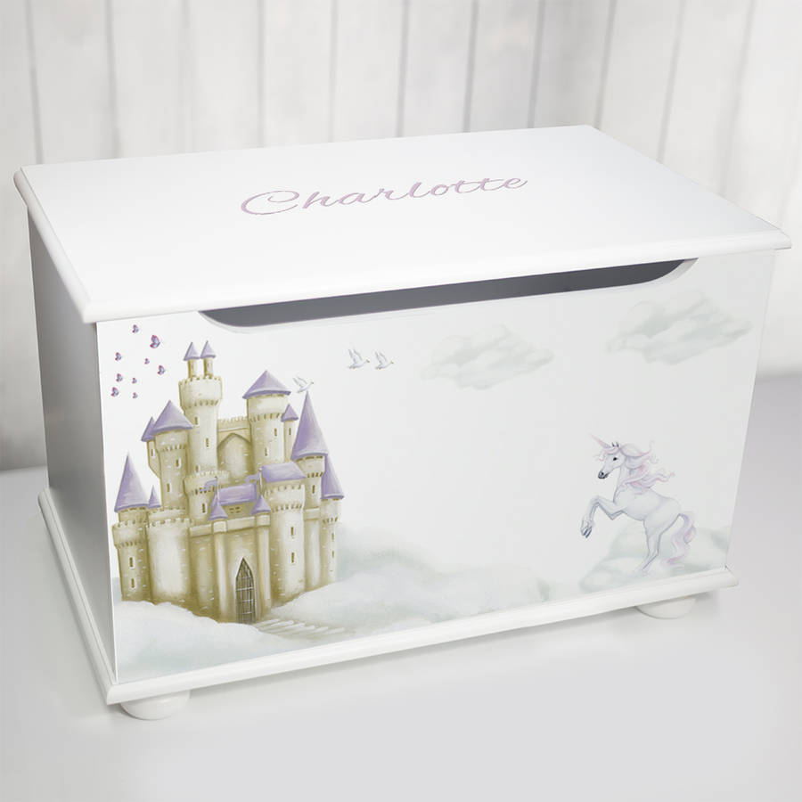 Personalised toy box fairy tale design by keepsake gifts by personalised toy box fairy tale design negle