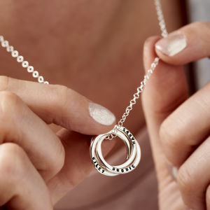 Personalised Russian Ring Necklace - gifts for grandparents