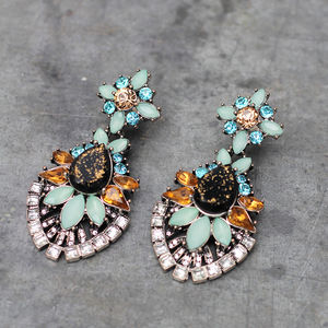 Vintage Style Floral Earrings - earrings