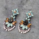Vintage Style Floral Earrings