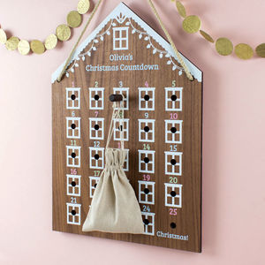Personalised Advent Calendar House - the christmas home edit