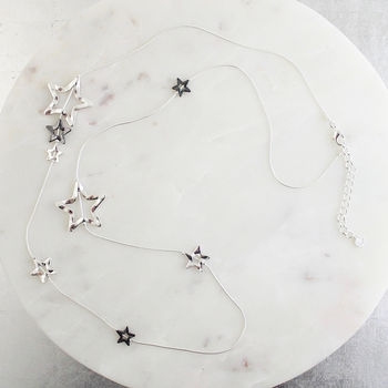 Long Star Statement Necklace