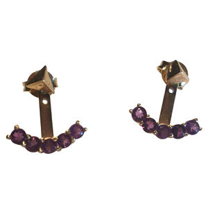 Amethyst Designer Earrings Mix N Match Two In One - earrings