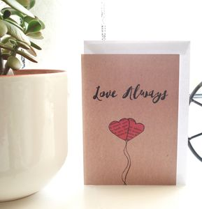 'Love Always' Greeting Card - valentine's cards