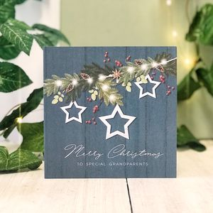 Special Grandparents Blue Country Christmas Card - new in christmas