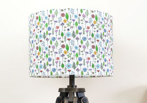 Wildflowers Lampshade - bedroom