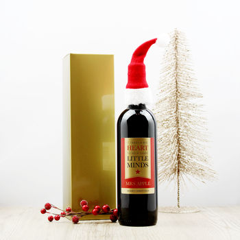 Personalised Wine Teacher Christmas Gift