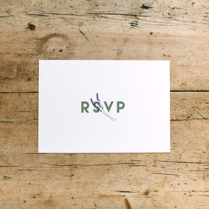 Herb Garden Wedding RSVP Cards - black friday sale