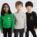 'Be You' Embroidered Children's Sweatshirt