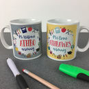 Personalised Welsh Teacher Mug