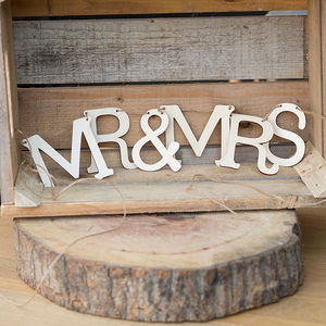 Wooden Mr And Mrs Personalised Wedding Bunting