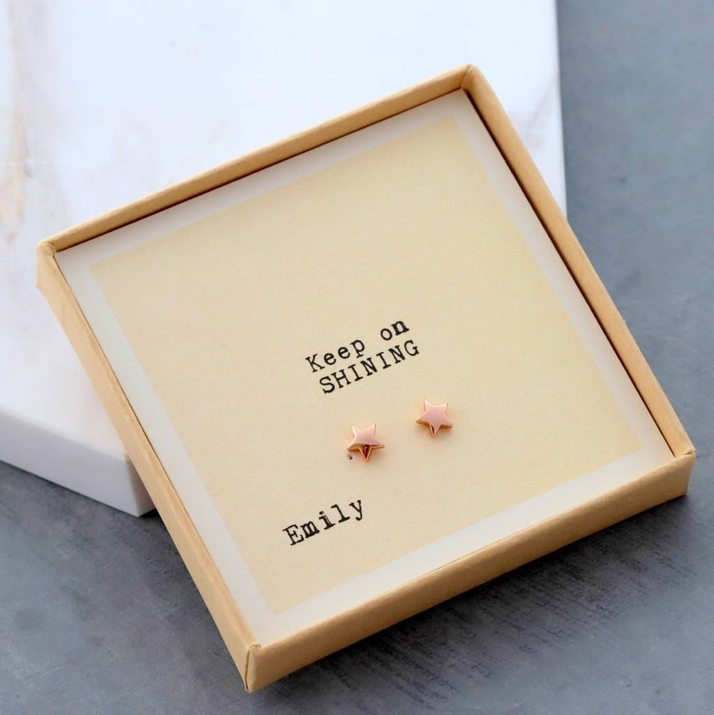 Gift Boxed 'keep On Shining' Earrings by Attic