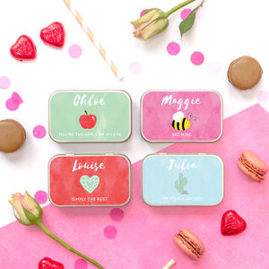 Personalised Valentines Chocolate Gift Tin For Her - chocolates & confectionery