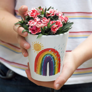 Rainbow Child's Personalised Plant Pot With Seeds - 'thinking of you' gifts