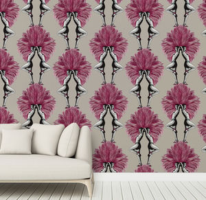 Showgirls Taupe Wallpaper - view all new