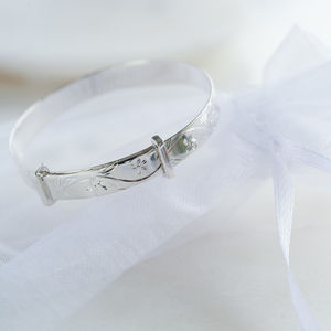 Sterling Silver Christening Baby Bangle - children's accessories