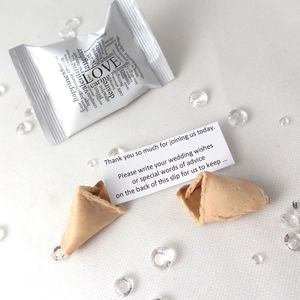 Wedding Wishes Wedding Fortune Cookies - edible favours