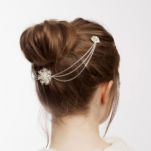 Wedding Hairpiece With Pearls