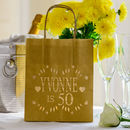 Personalised Happy 50th Lantern Bag