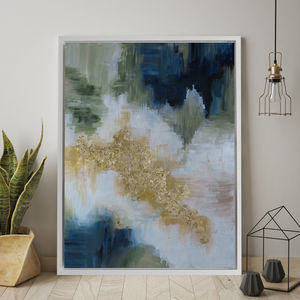 'Bella Verde' Framed Giclée Abstract Canvas Print Art - modern & abstract