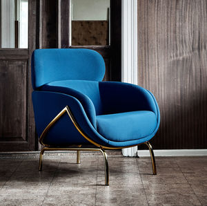 Curvy Lounge Chair In Blue - furniture