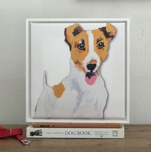 Jack Russell, Framed Canvas Print