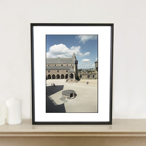 Shadow, Chateau De Vitre, France, Art Print - architecture & buildings