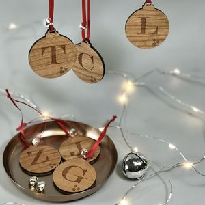 Initial Letter Decoration With Jingle Bell - christmas decorations