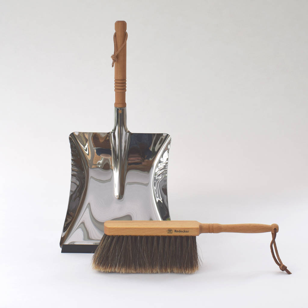Stainless Steel Dustpan And Brush By Housekeeping