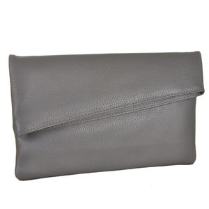 Grey Envelope Clutch - evening bags