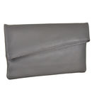 Grey Envelope Clutch