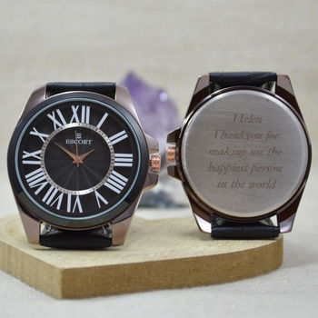 Personalised Wrist Watch Large Roman Numerals