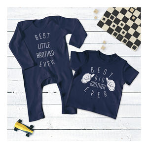 Big Brother Little Brother Set - babygrows
